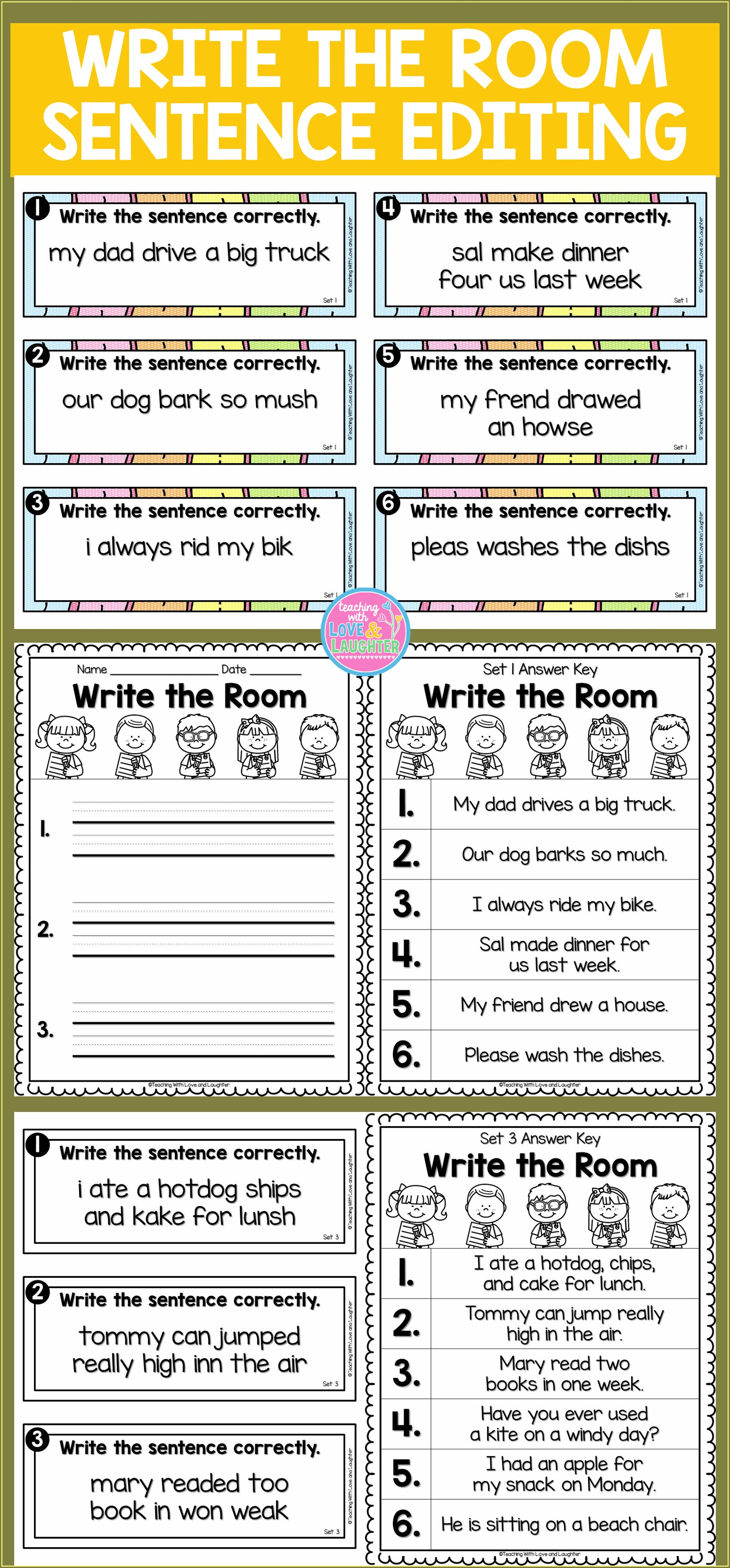 Spelling 5 Times Each Worksheet