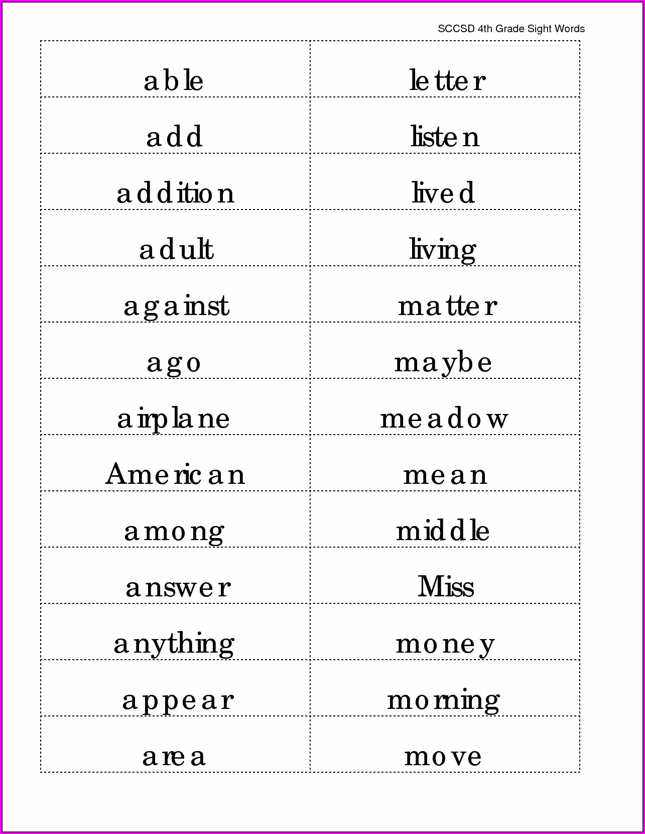 Spelling Words Worksheets For 5th Graders