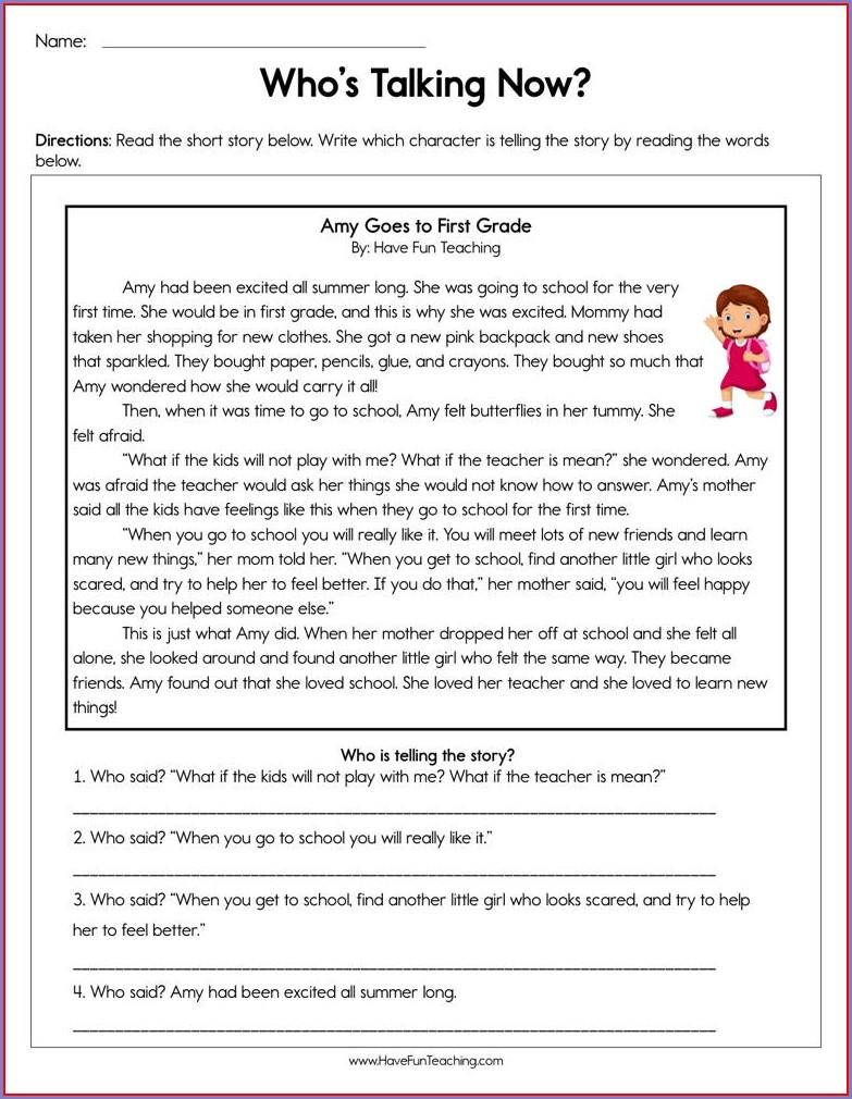Story Writing Worksheet For Grade 1