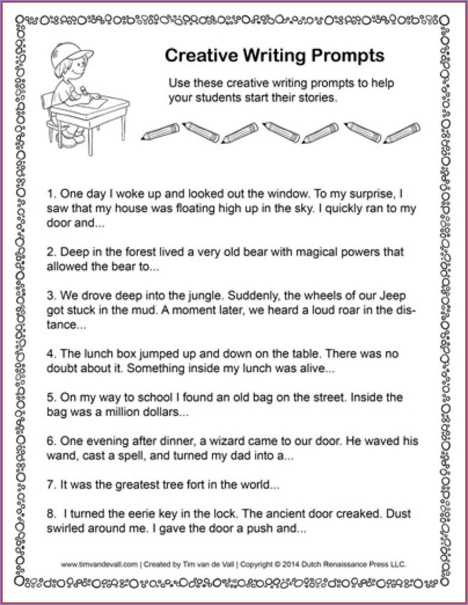 Story Writing Worksheet For Grade 5