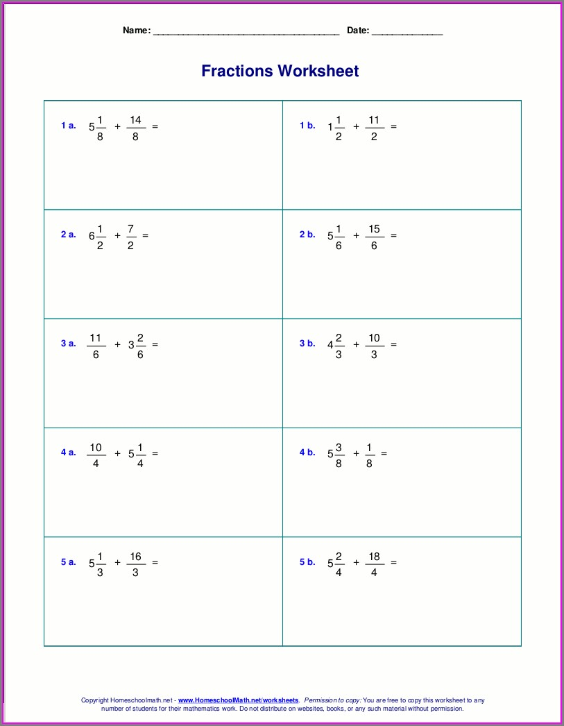 Subtracting Rational Numbers Worksheet Pdf