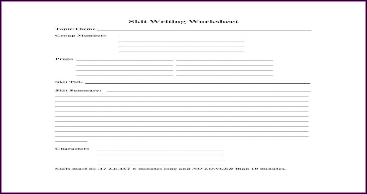 Summary Writing Worksheet Pdf