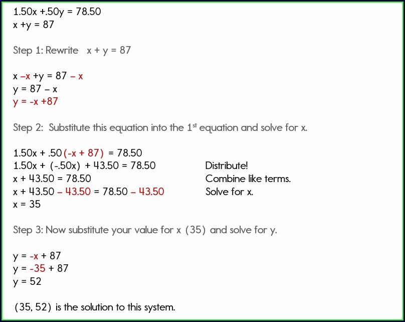 System Of Equation Word Problem Worksheet
