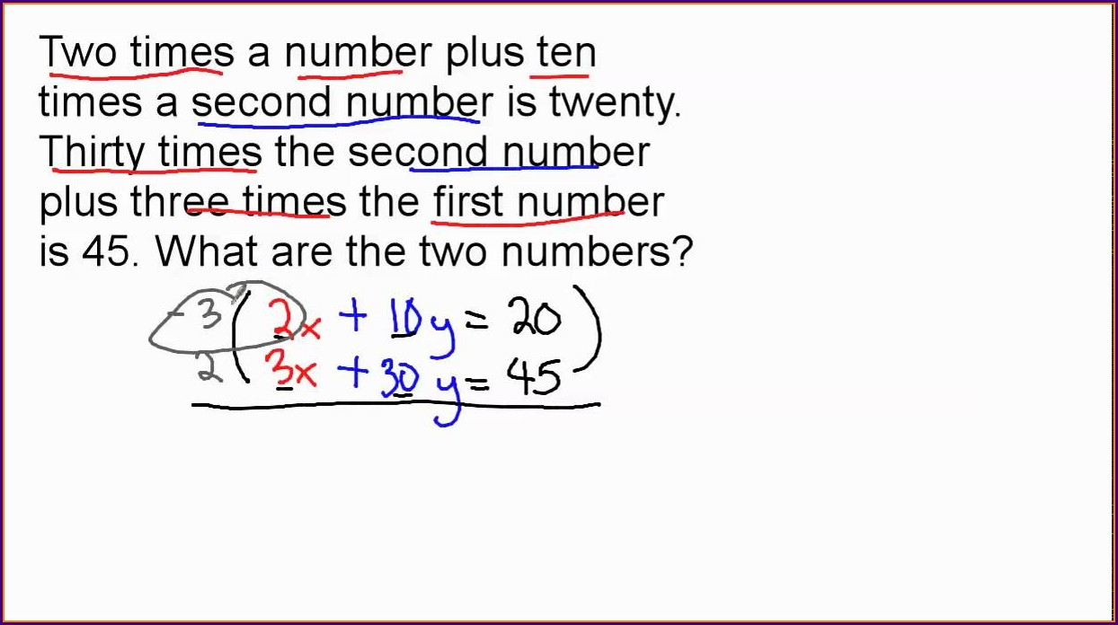 System Of Equations Word Problems Regents