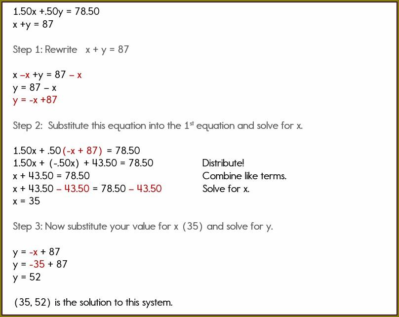 Sytem Of Equation Word Problem Worksheet