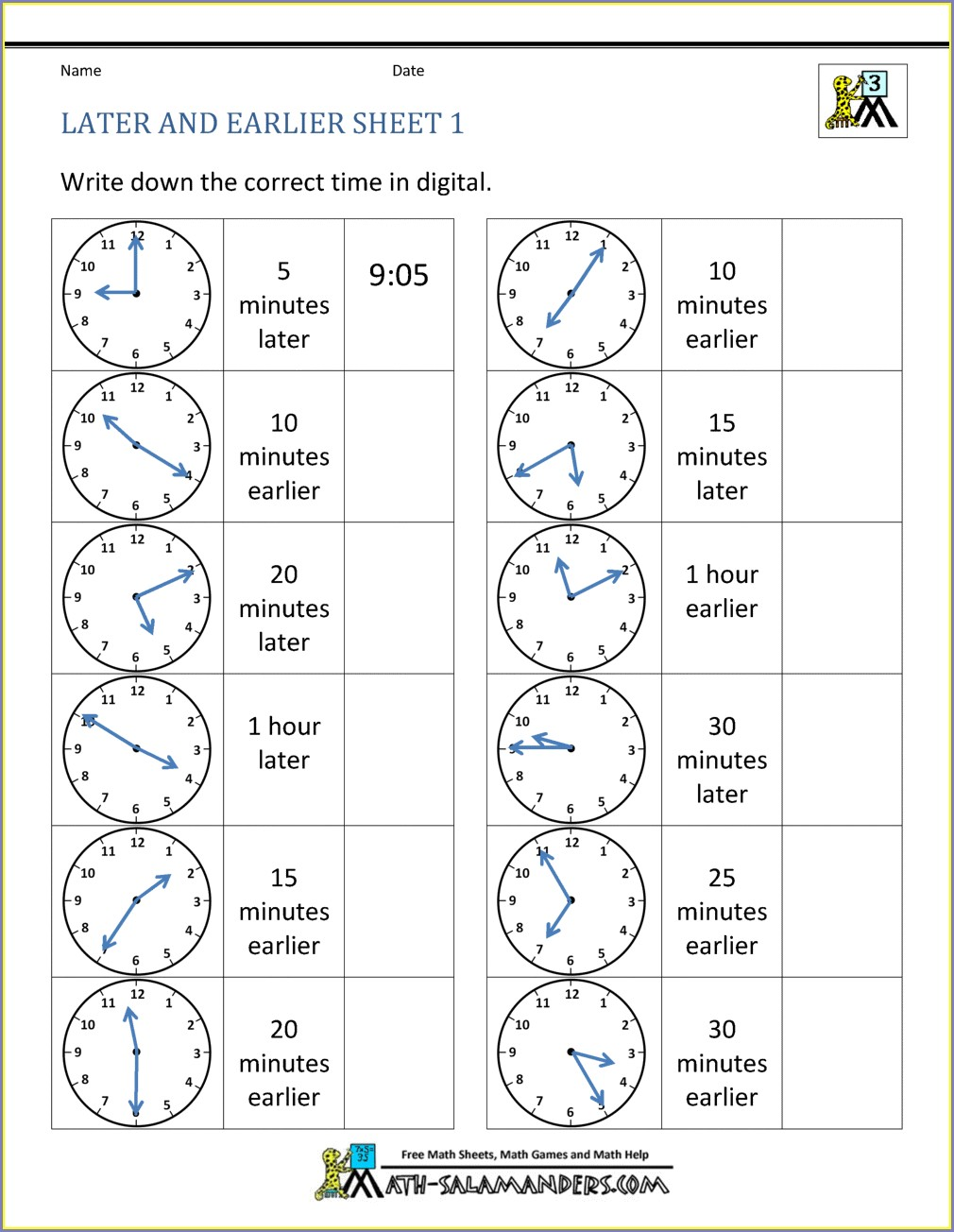 Telling The Time Worksheets With Roman Numerals