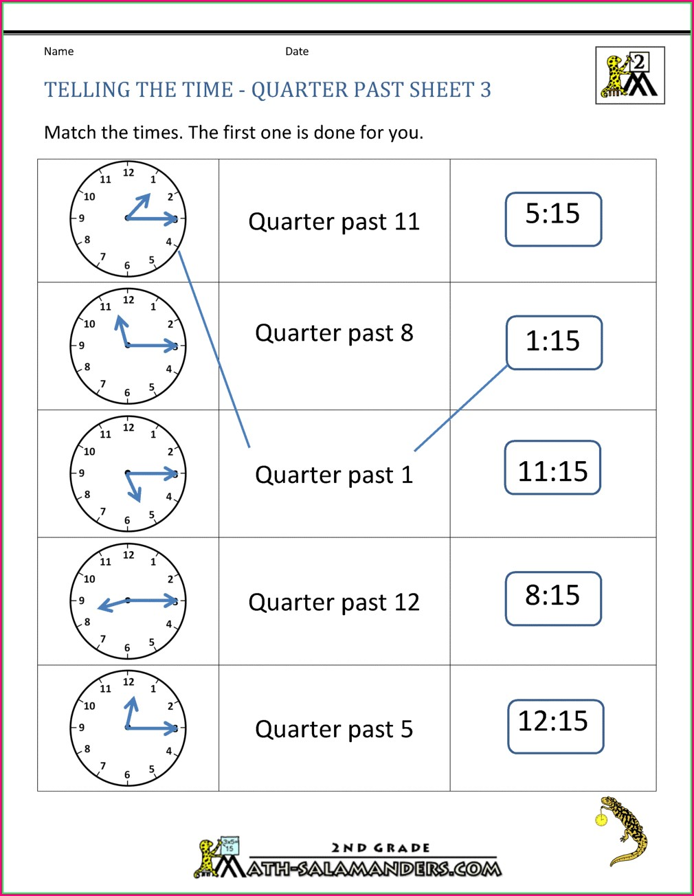 Telling Time To The Half Hour Worksheets Free