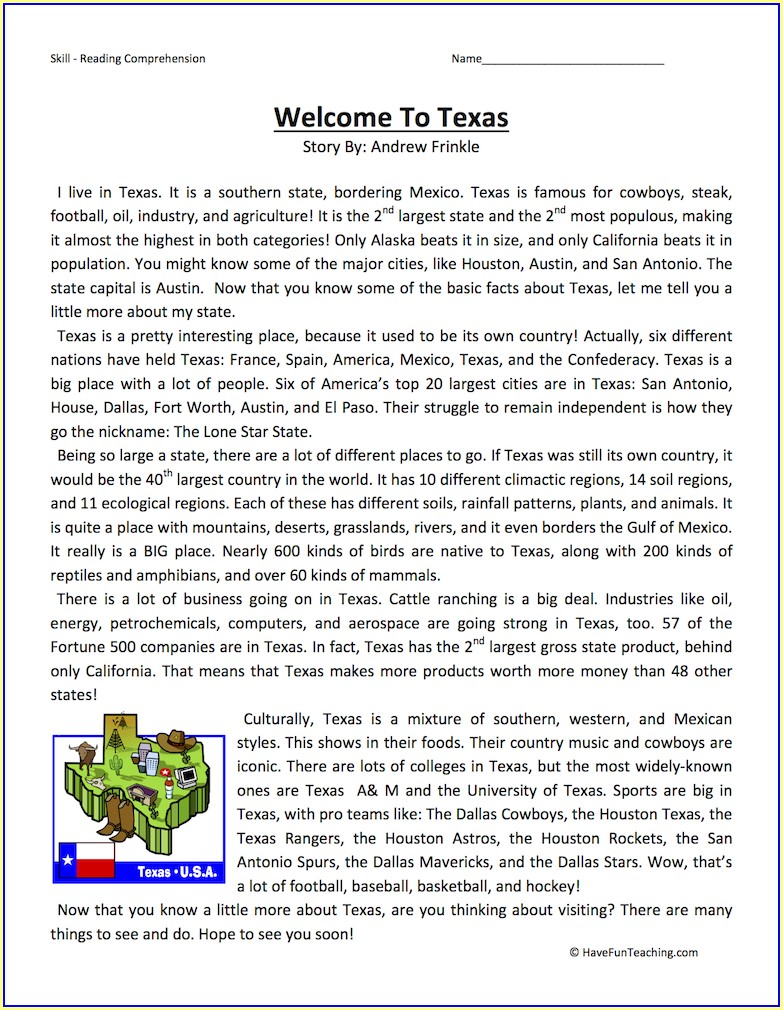 Texas 5th Grade Science Worksheets