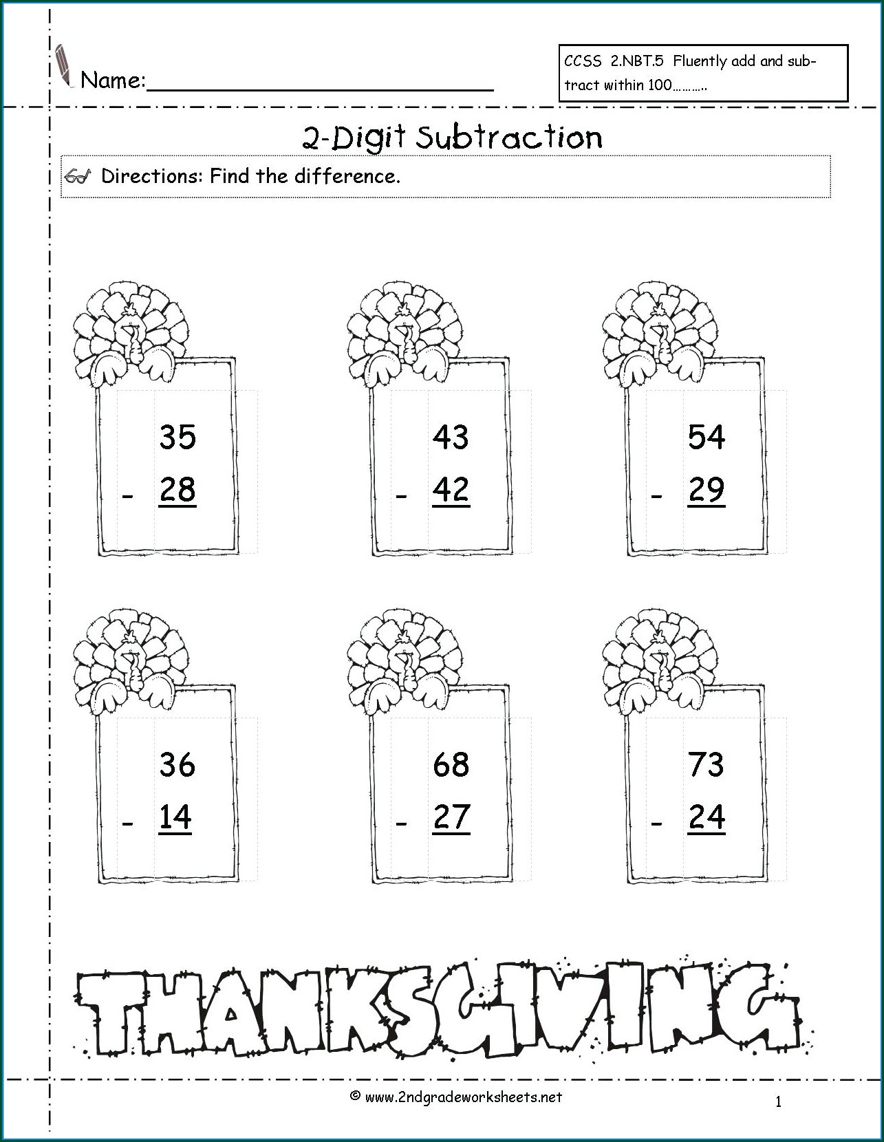 Thanksgiving Math Worksheets Teachers Pay Teachers