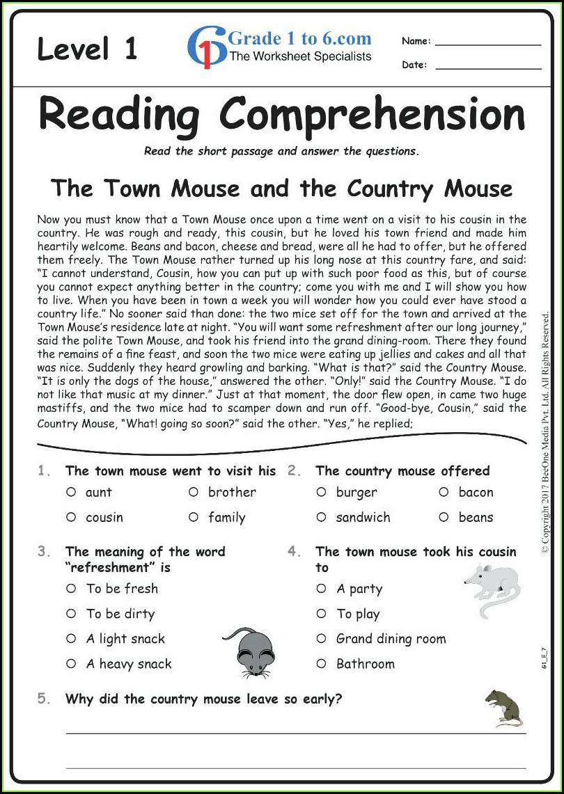 Third Grade 3rd Grade English Worksheets