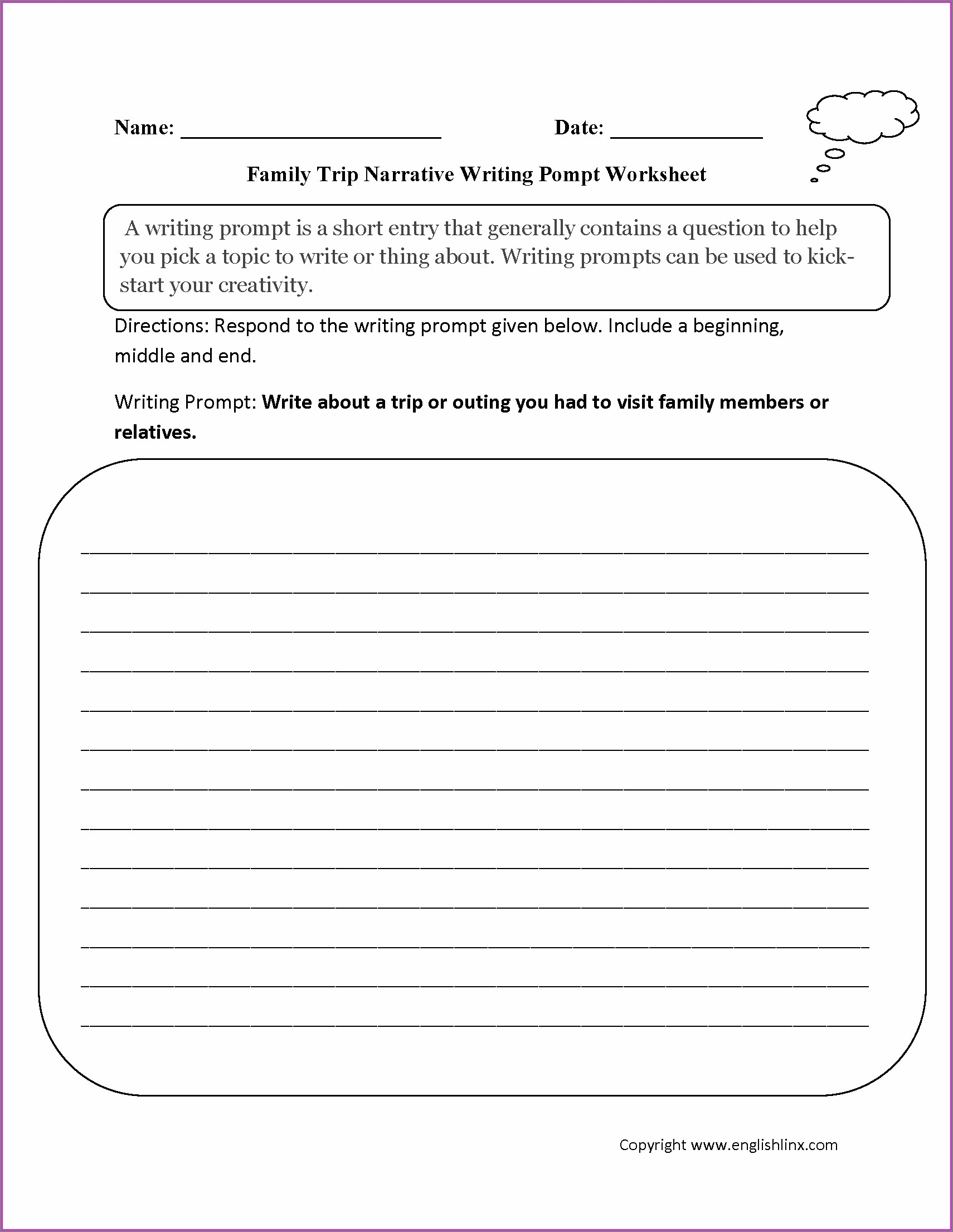 Third Grade 3rd Grade Writing Worksheets Pdf