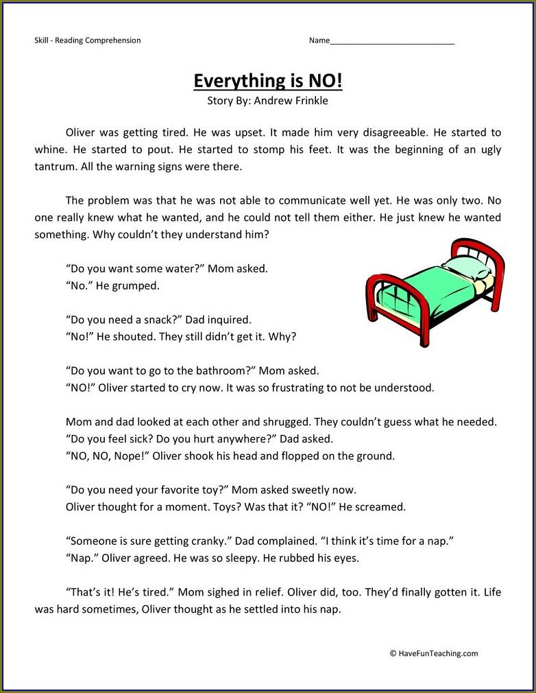 Third Grade Reading Comprehension Worksheet 3rd Grade
