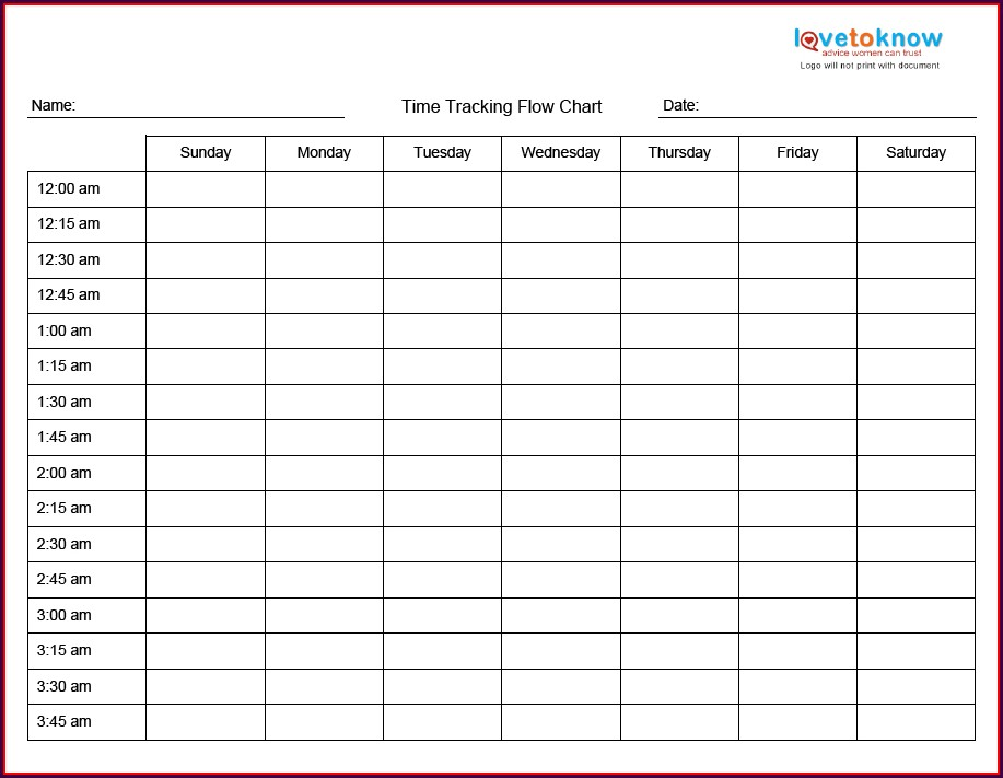 Time Management And Organization Worksheet