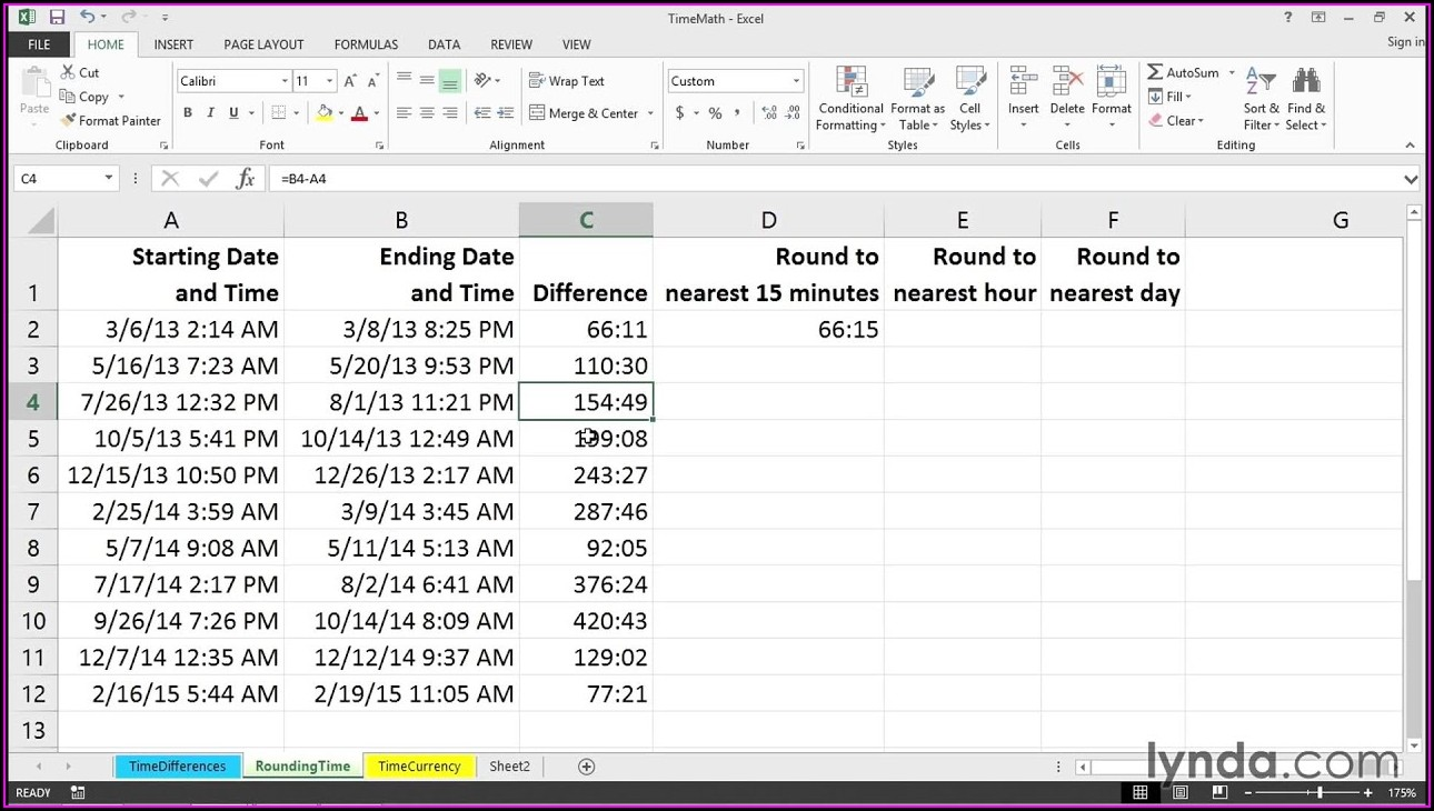 Time Min And Sec Conversion Excel Worksheet