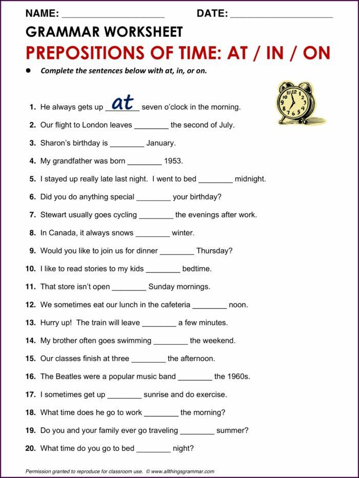 Time Worksheet Class 3