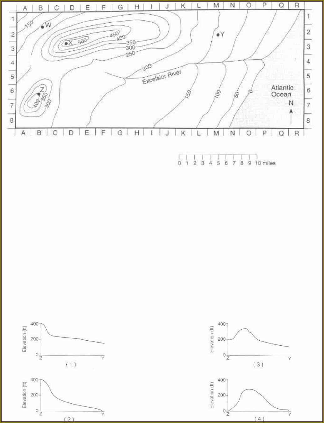 Topographic Map Worksheet Lookout Hill