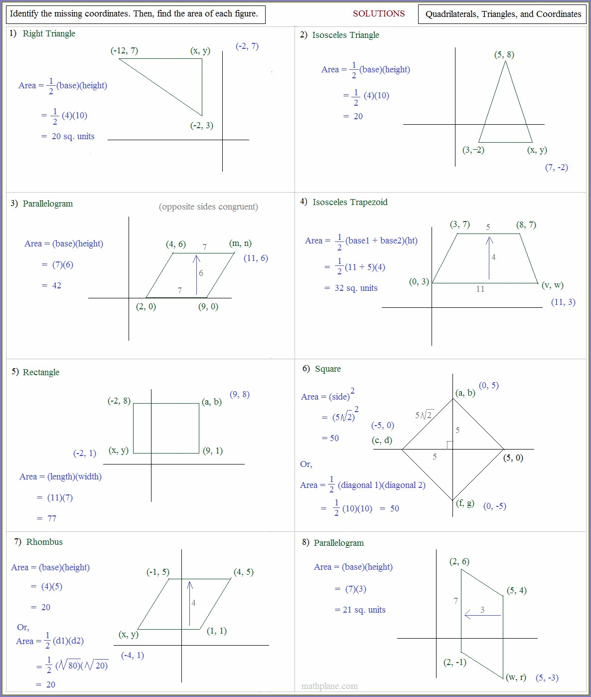 Triangle Area Worksheet Mathworksheets4kids