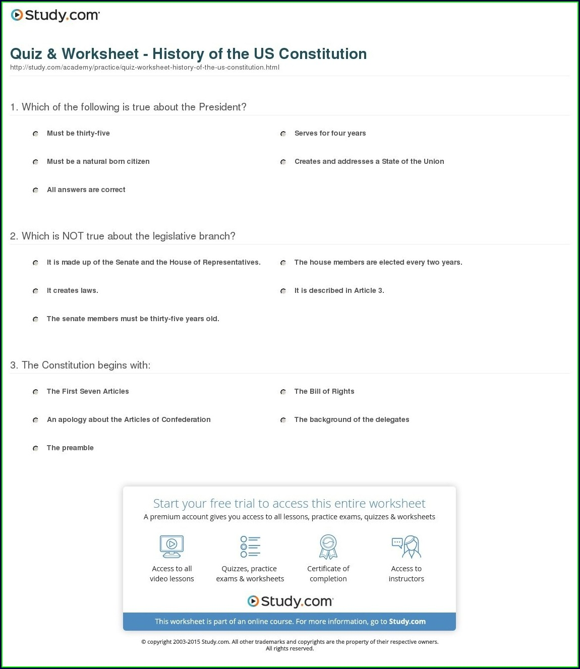 Us History Printables Worksheets Free