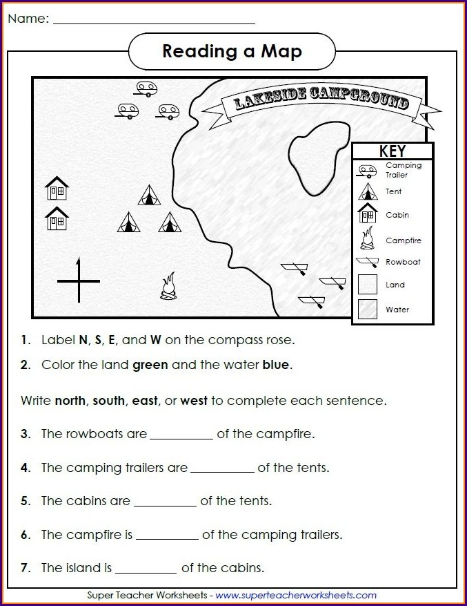 Using A Map Scale Worksheet Answer Key