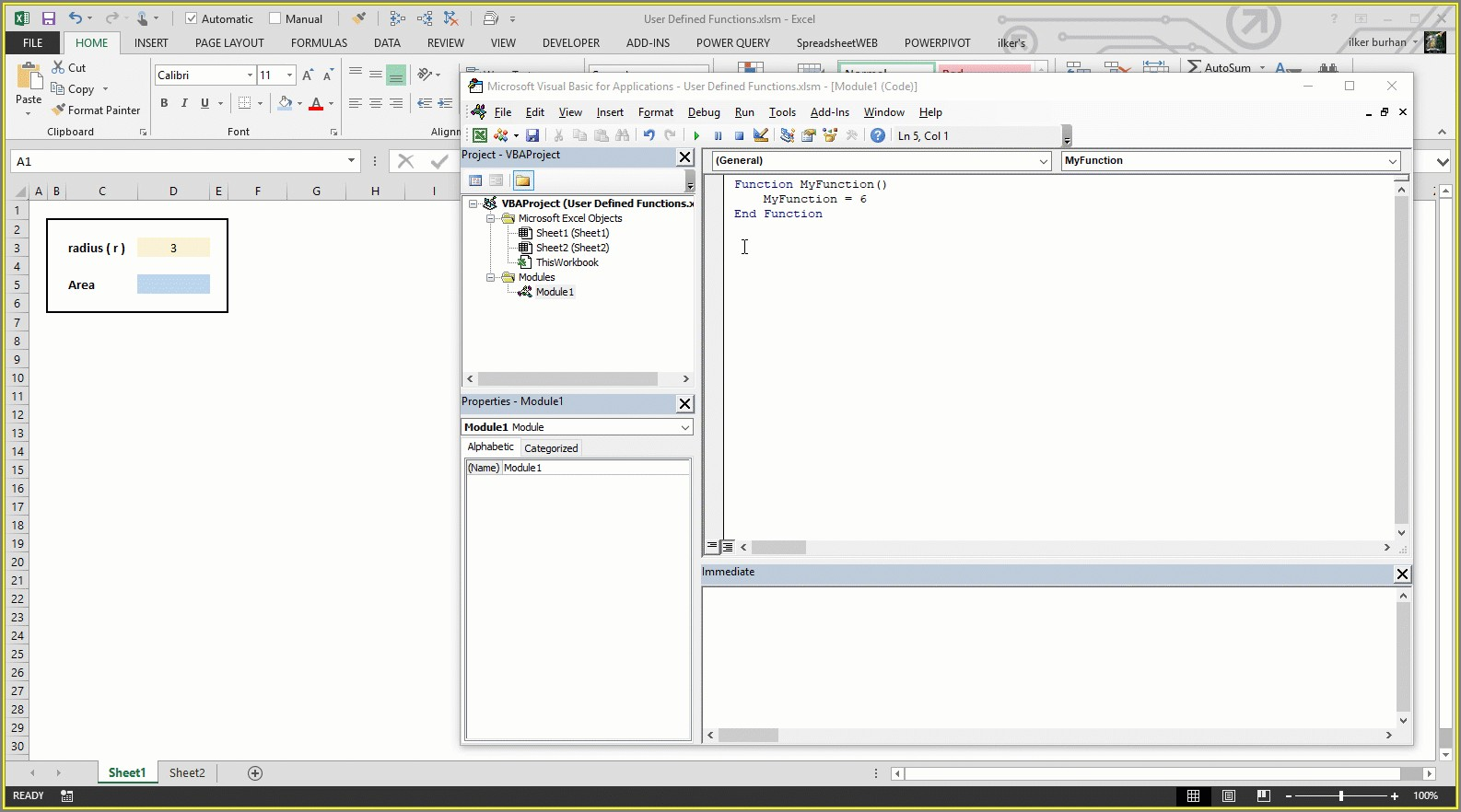 Vba For Worksheet Function