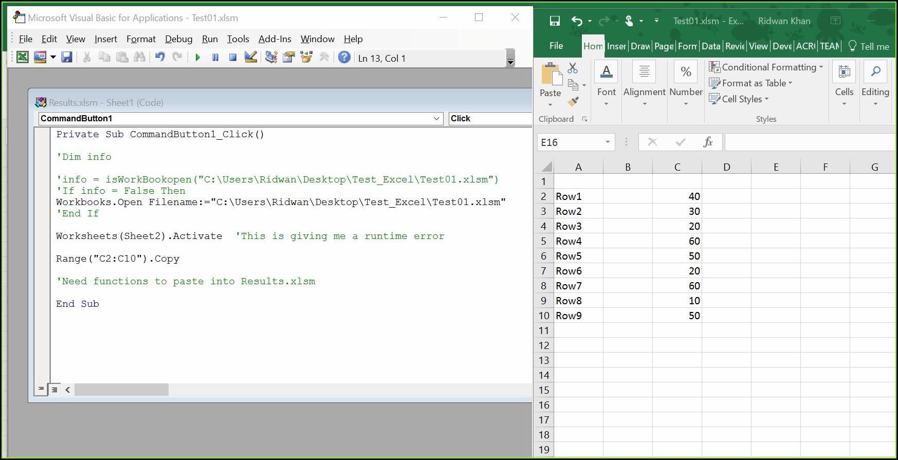 Vba Function Workbook Name