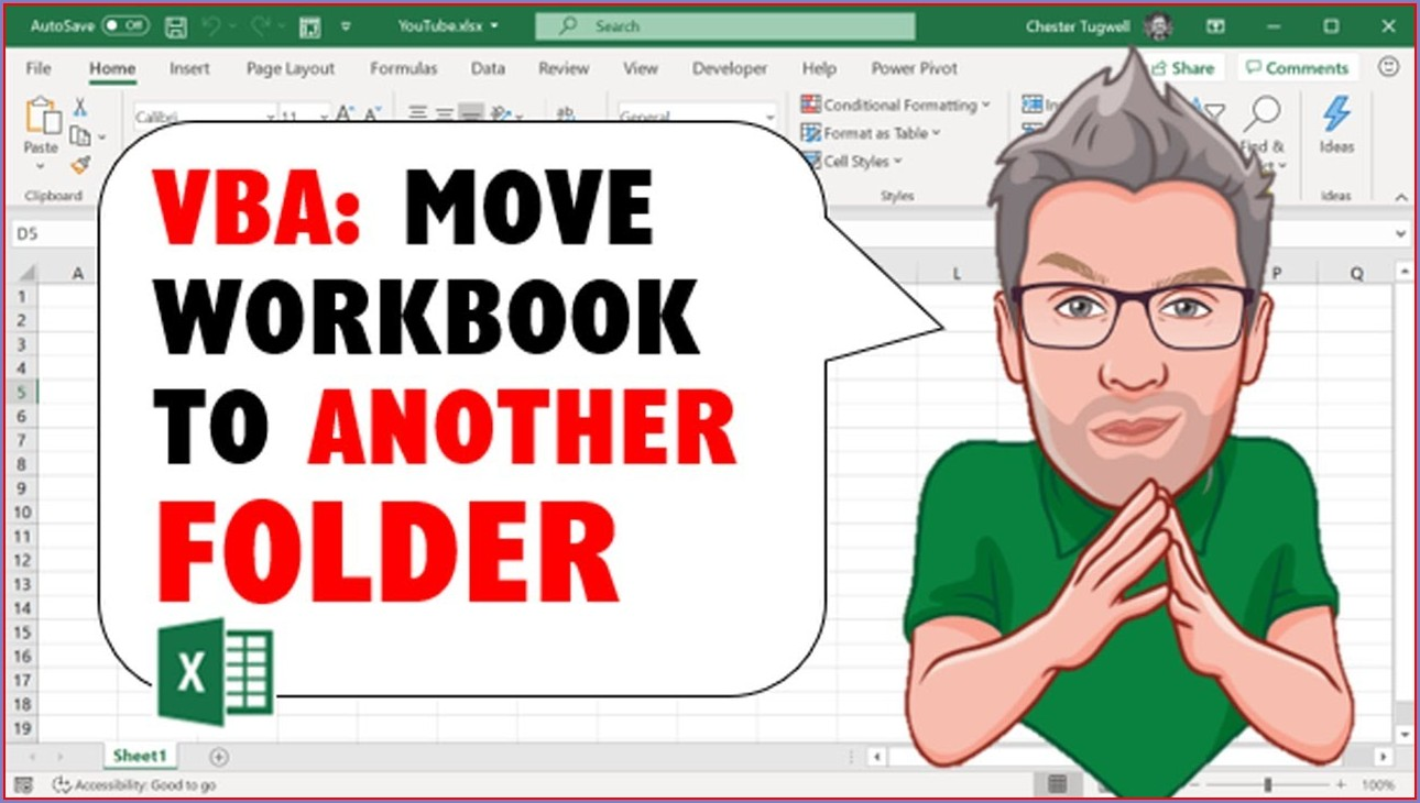 Vba Move Workbook To Another Folder