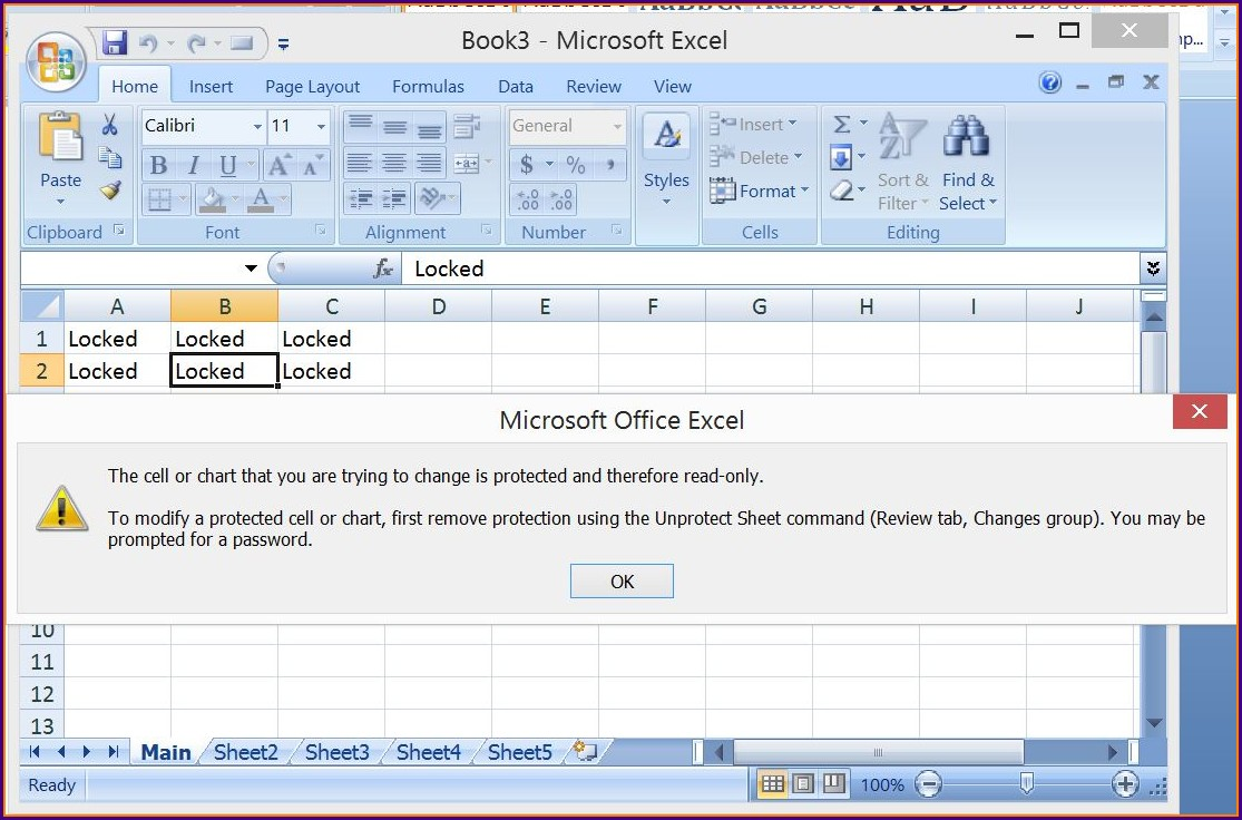 Vba Protect Sheet Unlock Cells