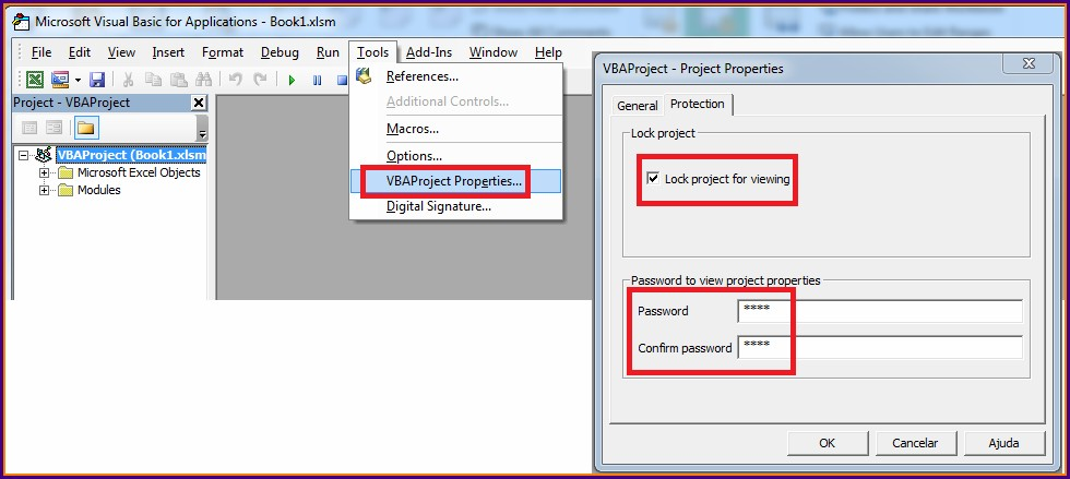 Vba Protect Workbook Structure With Password