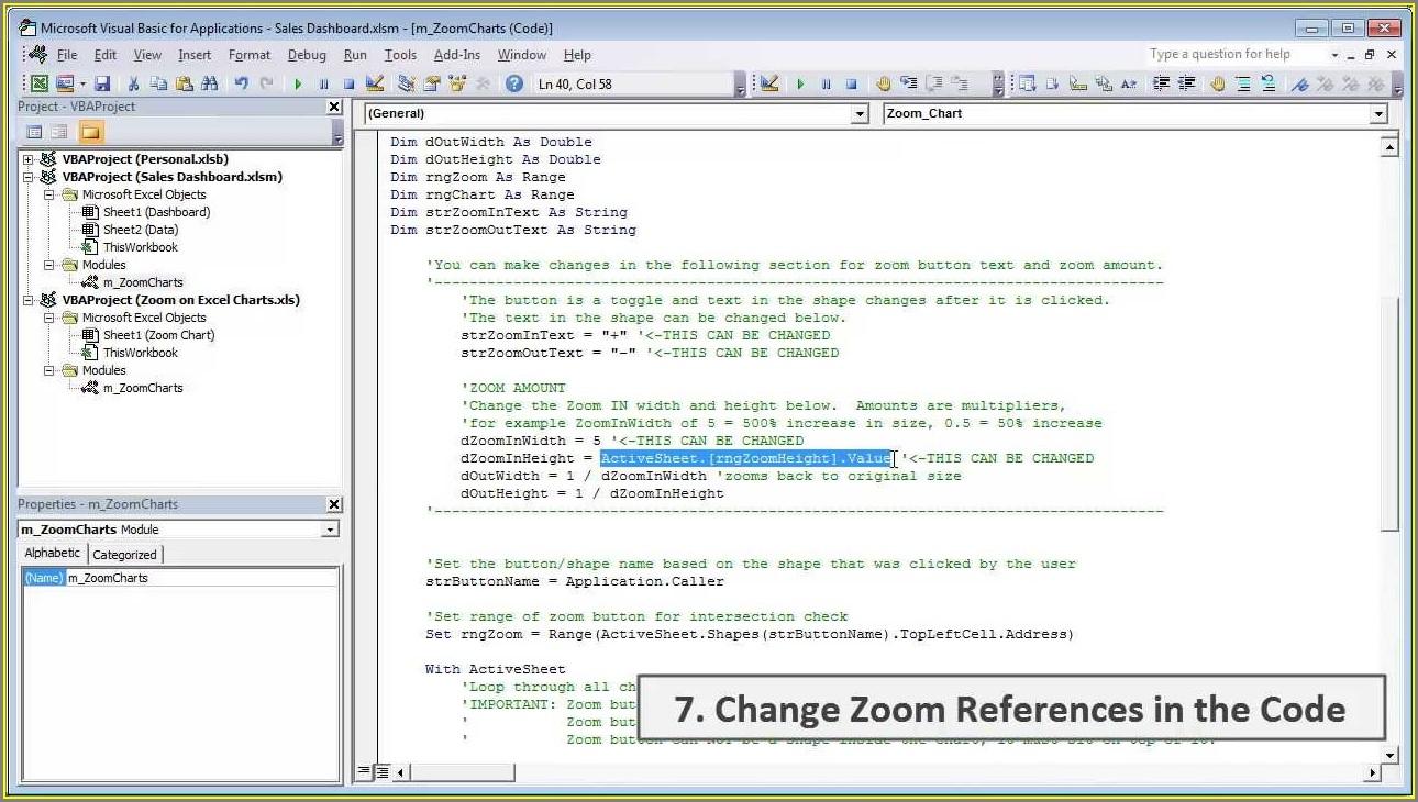 Vba Set Zoom On Worksheet