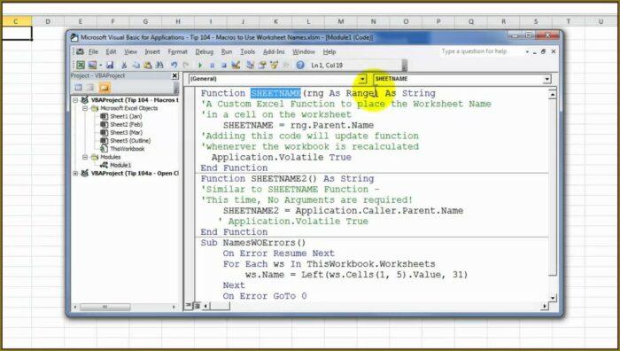 Vba User Defined Worksheet Function