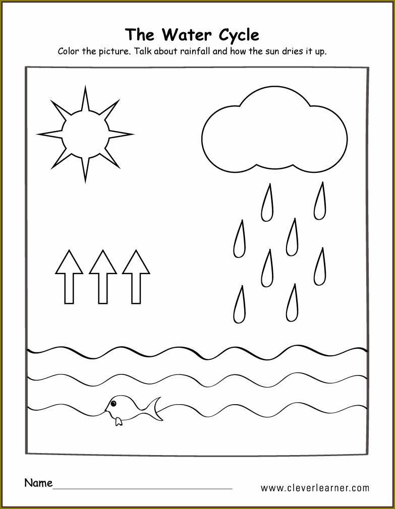 Water Cycle Worksheet Elementary