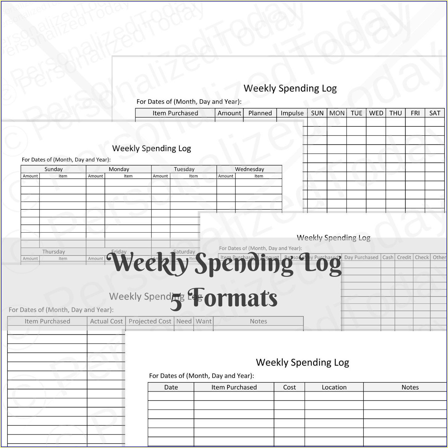 Weekly Budget Worksheet Pdf