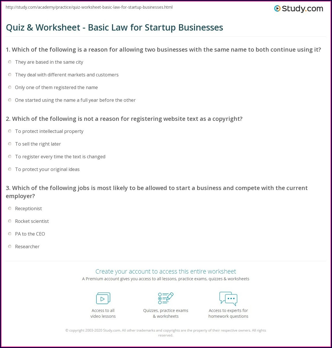 Which Law Science Worksheet