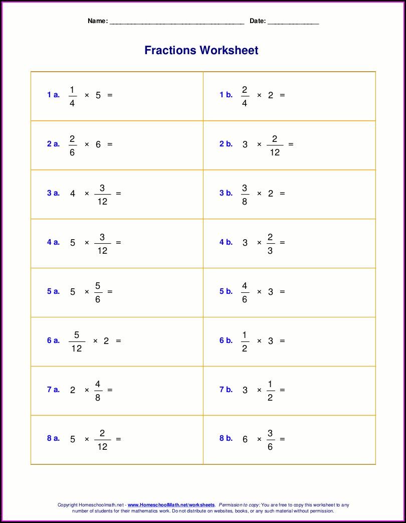 Whole Numbers Worksheet Grade 7