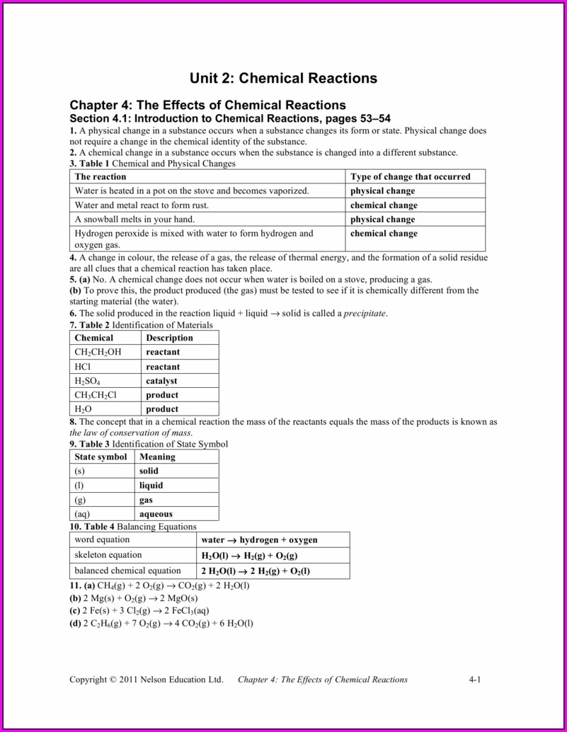 Word Equations Worksheet 62