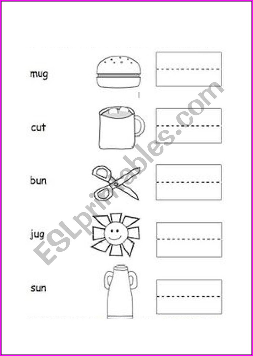 Word Family Ug Worksheets