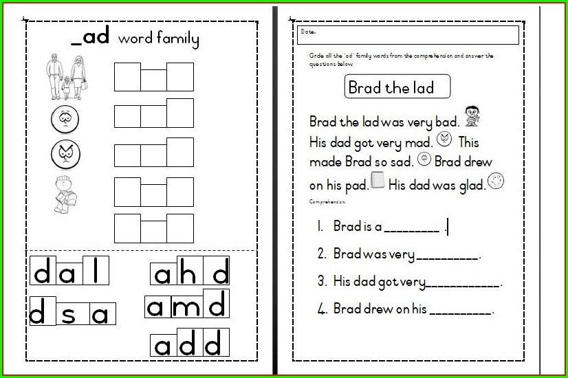 Word Family Worksheets Free