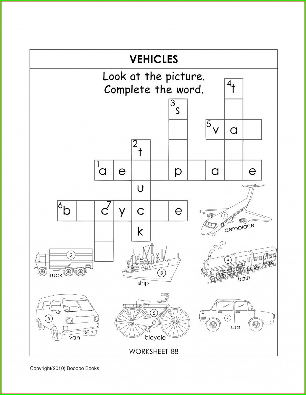 Word Family Worksheets Middle School