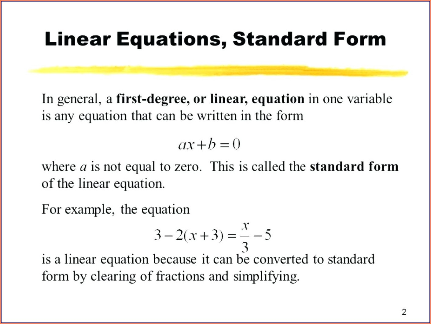 Word Problems Linear Equations Worksheet Pdf