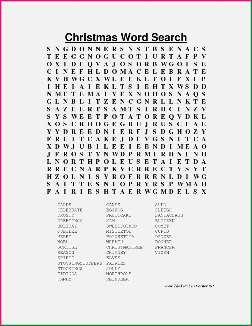 Word Search Crossword Puzzles Printable