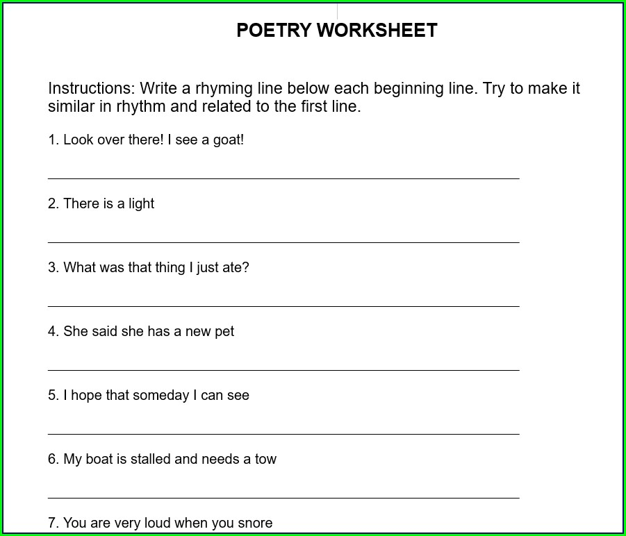 Worksheet English Assignment For Class 1