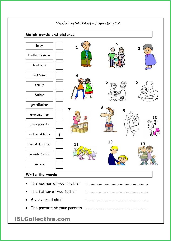 Worksheet English For Kindergarten 2