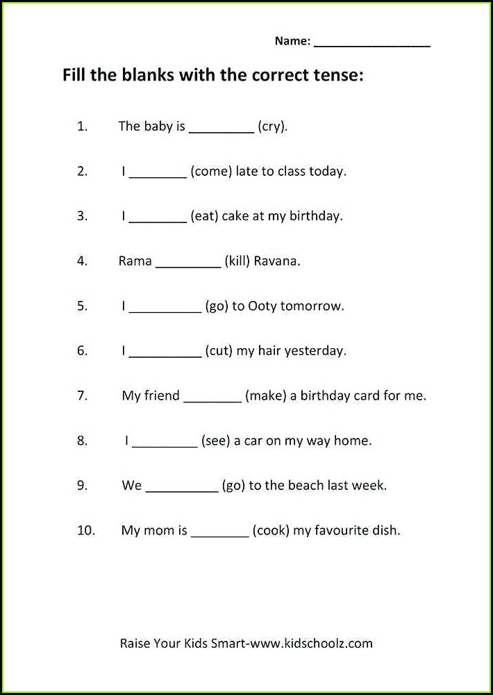 Worksheet For Class 5 English Grammar Nouns