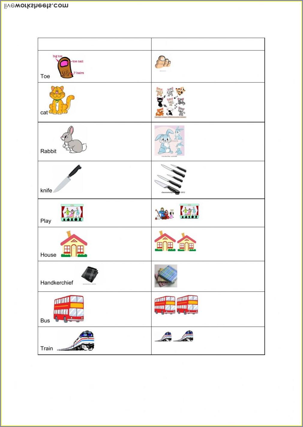 Worksheet For Grade 3 English Nouns