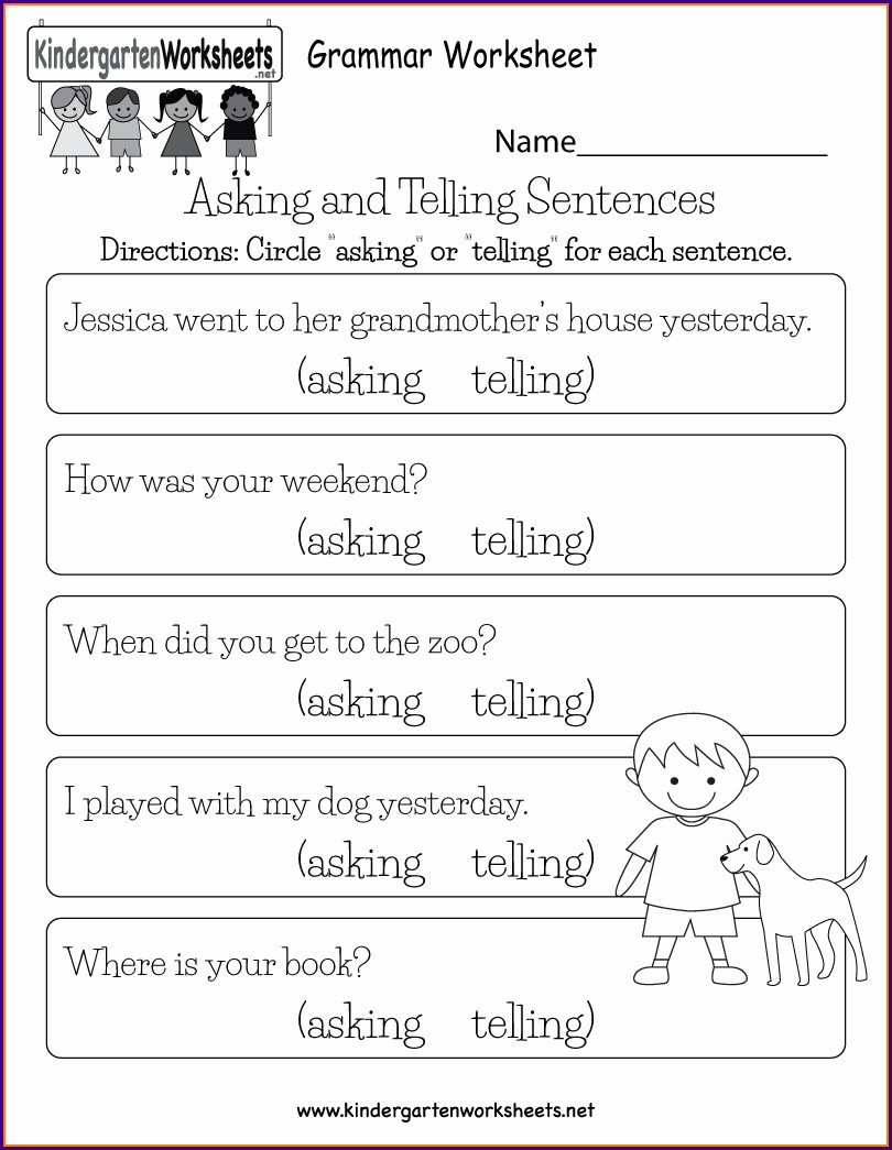 Worksheet For Second Grade English