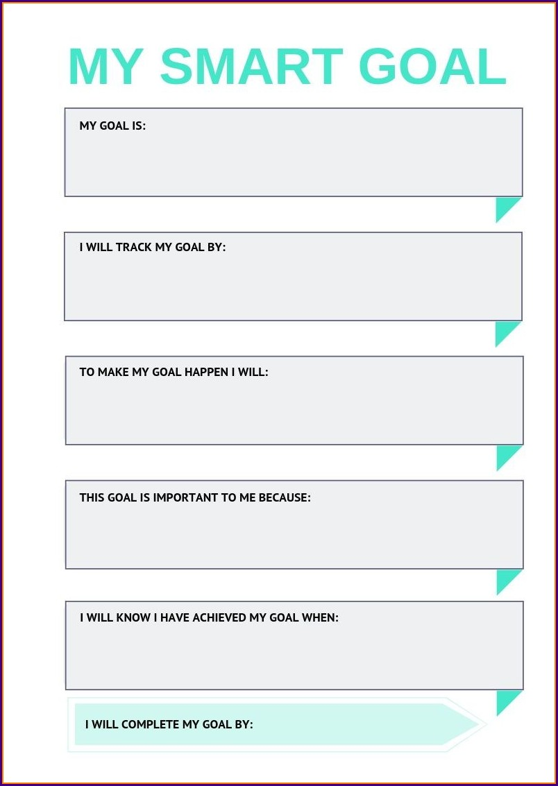 Worksheet For Smart Goals