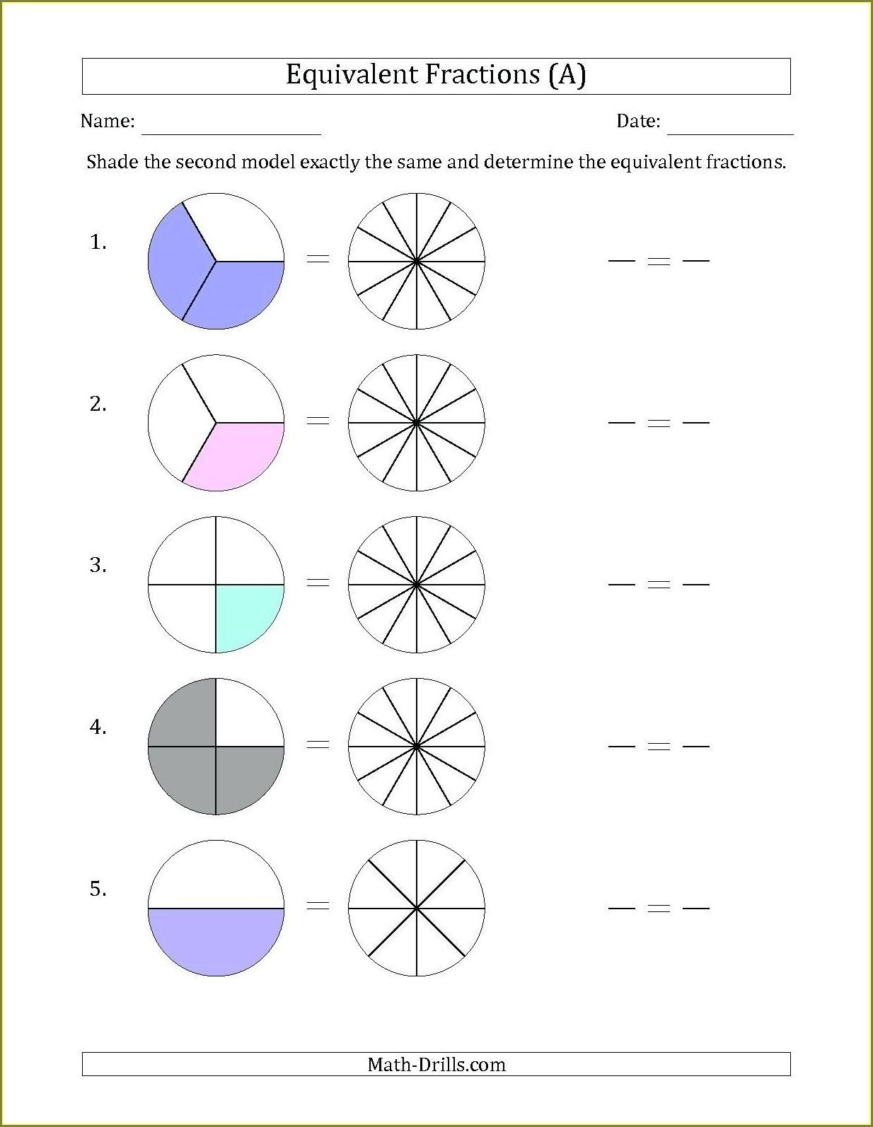 Worksheet Fractions For Grade 3