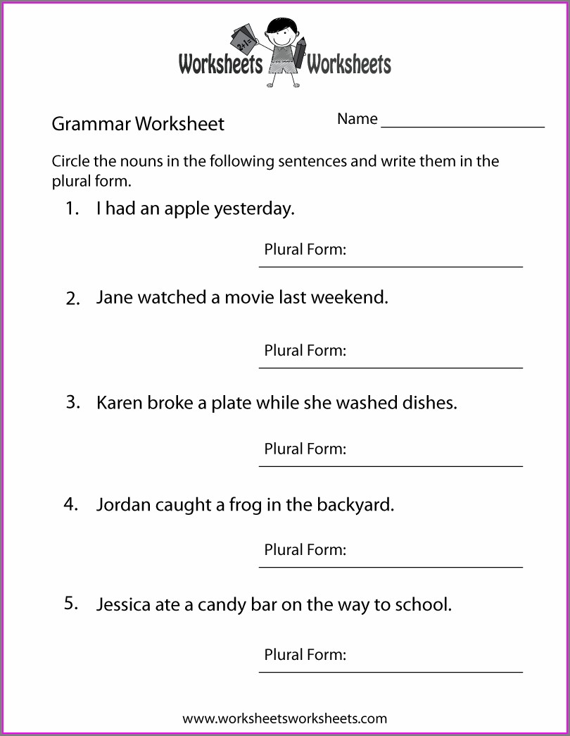 Worksheet Free Printable Worksheet English Year 5