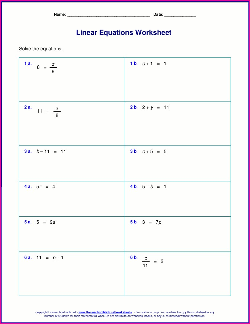 Worksheet Generator Simple Solutions Math Grade 6 Answer Key