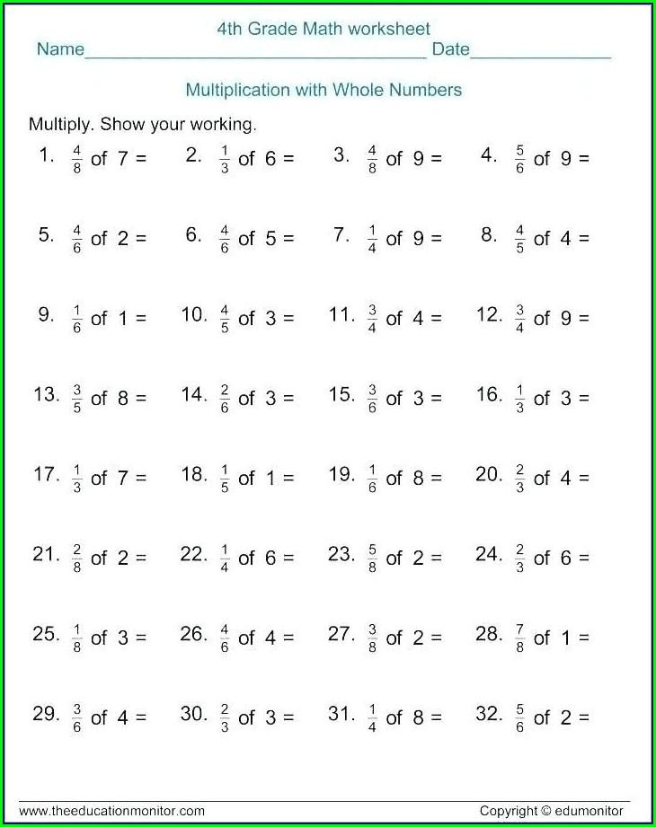 Worksheet Grade 7 Math
